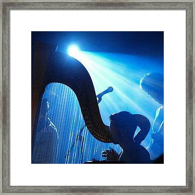 Lighted Harp Framed Print by James Granberry
