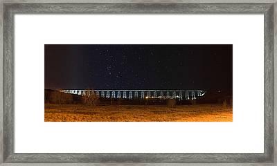 Lighted High Level Bridge Framed Print