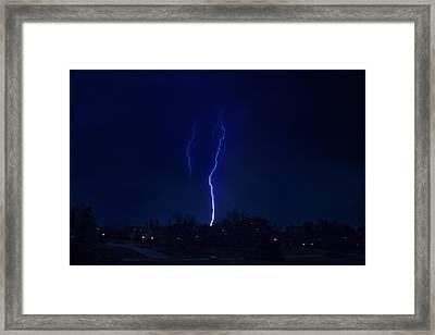 Lightening Strikes Framed Print by Trudy Wilkerson