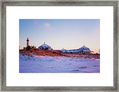 Lighthouse And St Mary's By The Sea Framed Print by Tom Singleton
