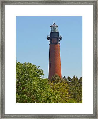 Lighthouse At Corolla N C Framed Print by J D  Whaley
