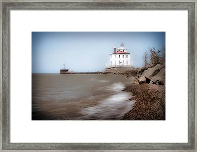 Framed Print featuring the photograph Lighthouse At Fairport Harbor by Michelle Joseph-Long