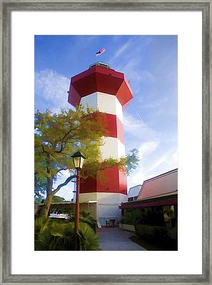 Lighthouse At Hilton Head Framed Print