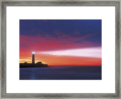 Lighthouse Beacon Framed Print by Darwin Wiggett