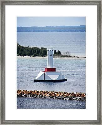 Lighthouse Framed Print by Emily Kelley