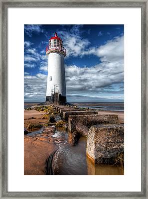 Lighthouse Entrance Framed Print by Adrian Evans