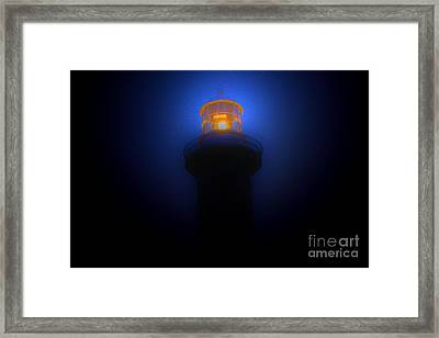 Lighthouse Glow Framed Print by Joanne Kocwin