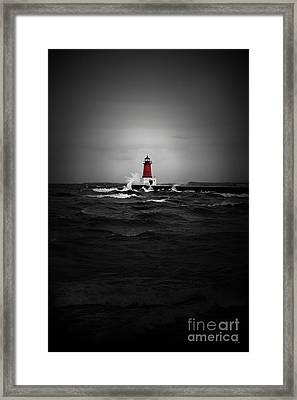 Lighthouse Glow Framed Print