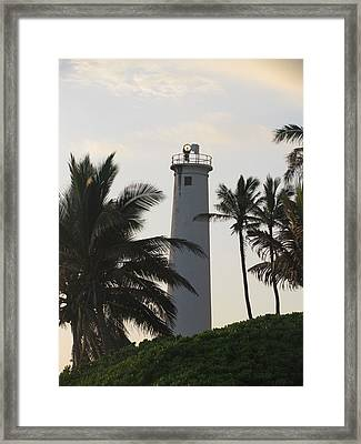 Lighthouse In Hawaii Framed Print
