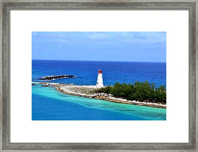 Framed Print featuring the photograph Lighthouse In Nassau by George Bostian