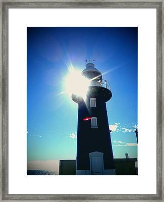 Framed Print featuring the photograph Lighthouse In The Sunlight by Roberto Gagliardi