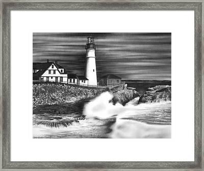 Lighthouse Framed Print by Jerry Winick