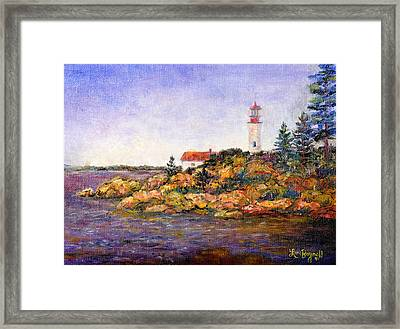 Framed Print featuring the painting Lighthouse by Lou Ann Bagnall