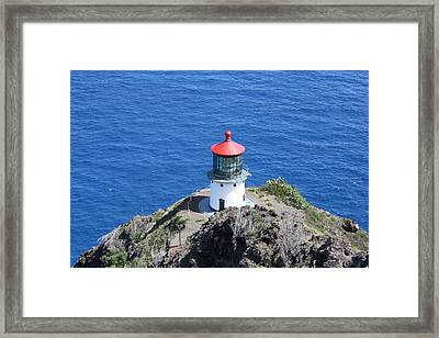 Lighthouse Framed Print by Natalija Wortman