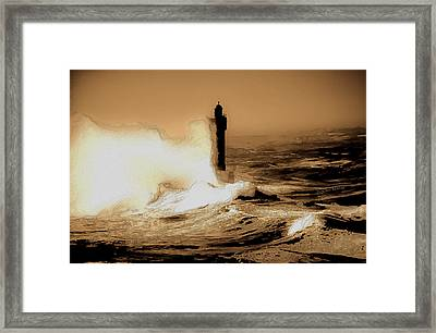 Lighthouse Of The Sea Framed Print by DigiArt Diaries by Vicky B Fuller