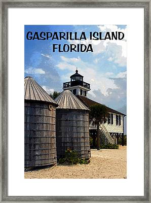 Lighthouse On Gasparilla Framed Print