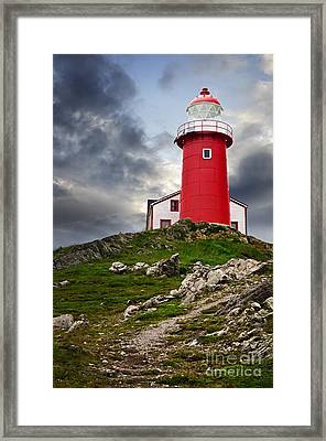 Lighthouse On Hill Framed Print