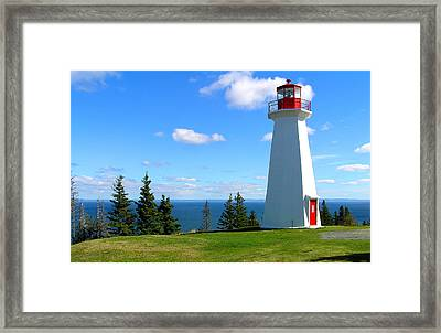 Lighthouse On Nova Scotia Framed Print