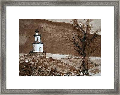 Lighthouse On Wisconsin Point Framed Print