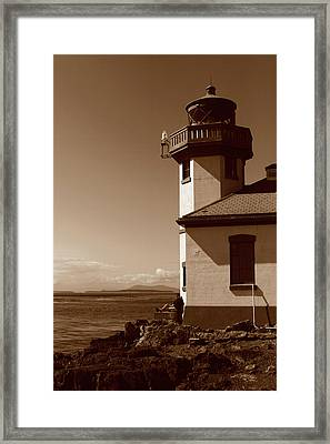 Framed Print featuring the photograph Lighthouse San Juan by Lorraine Devon Wilke