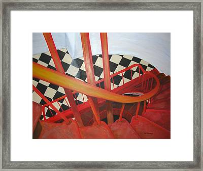 Lighthouse Staircase Framed Print