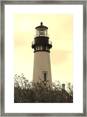 Lighthouse Tranquility Framed Print by Athena Mckinzie