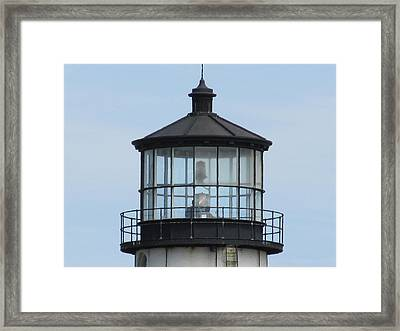 Lighthouse Visit Framed Print by Loretta Pokorny