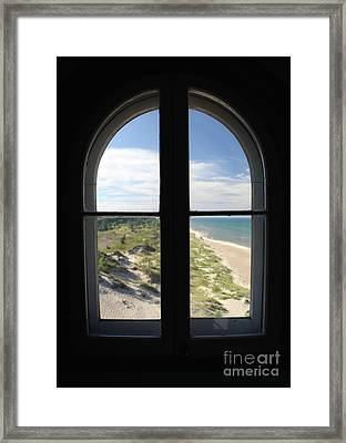 Lighthouse Window Framed Print