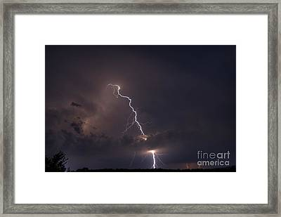 Framed Print featuring the photograph Lighting  by Alana Ranney