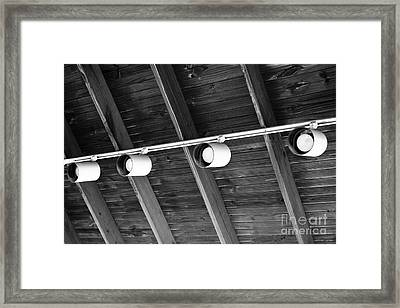 Framed Print featuring the photograph Lighting Design by Lawrence Burry