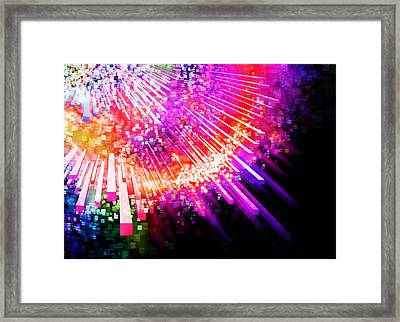 Lighting Explode Framed Print