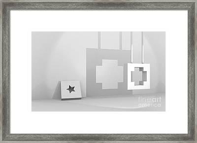 Lighting Study Room  Framed Print