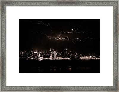 Lighting The Sky Framed Print by David Hahn