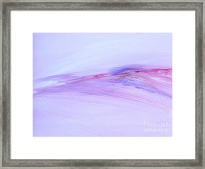 Lightly Brushed Framed Print