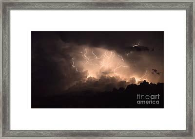 Lightning Framed Print by Bob Christopher