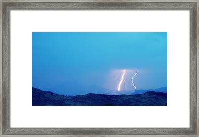 Lightning Bolts Hitting The Continental Divide Crop Framed Print