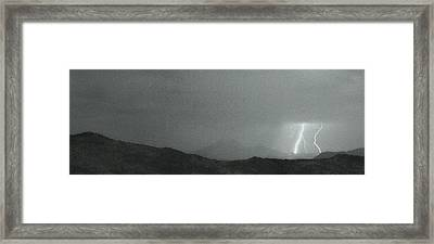 Lightning Bolts Hitting The Rocky Mountains Continental Divide B Framed Print by James BO  Insogna