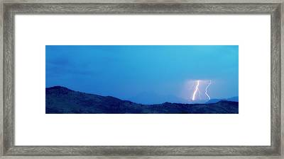 Lightning Bolts Hitting The Rocky Mountains Continental Divide Framed Print by James BO  Insogna