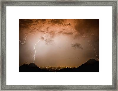 Lightning Dome Framed Print by James BO  Insogna