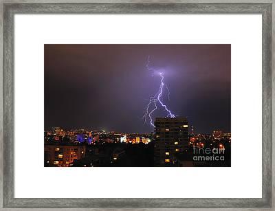 Lightning Framed Print by Evmeniya Stankova