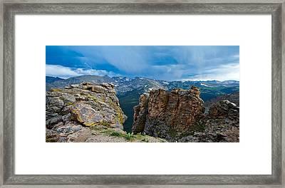 Lightning In Rocky Mountain Framed Print