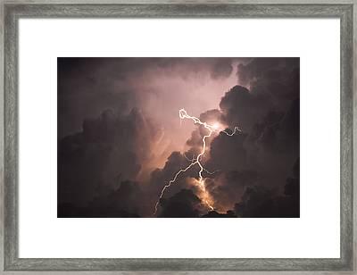 Lightning Man Framed Print by Paul Madura