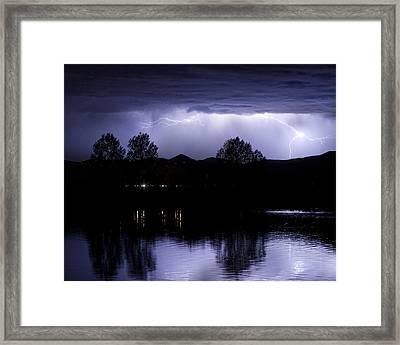 Lightning Over Coot Lake Framed Print by James BO  Insogna