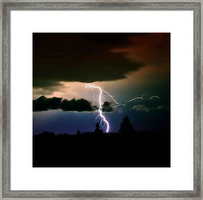 Lightning Over The Plains I Framed Print by Ellen Heaverlo