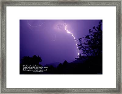 Lightning Over The Rogue Valley Framed Print
