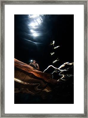 Lightning Squids Framed Print by Rico Besserdich