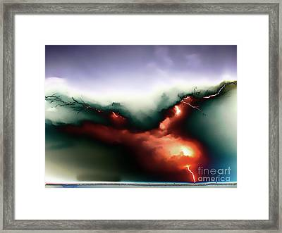 Lightning Strike Framed Print by Graham Taylor