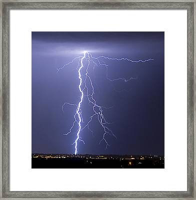 Lightning Strikes Framed Print