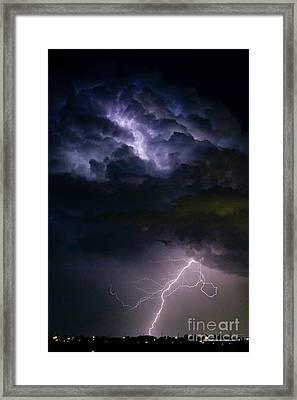 Lightning Thunderhead Storm Rumble Framed Print by James BO  Insogna