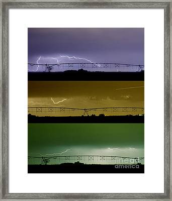 Lightning Warhol  Abstract Framed Print by James BO  Insogna
